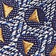 Krawatte aus reiner Seide mit geometrischem Muster, GOLD MELANGE, swatch