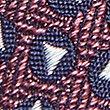 Pure Silk Geometric Print Tie, BURGUNDY MIX, swatch