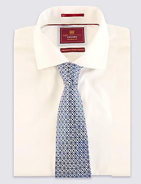 Pure Silk Two Tone Textured Tie, BLUE MIX, catlanding