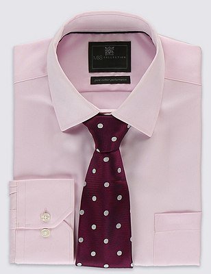 Pure Silk Twill Spotted Tie, PINK MIX, catlanding