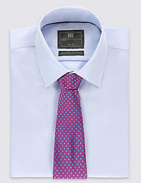 Pure Silk Spotted Tie, PINK MIX, catlanding