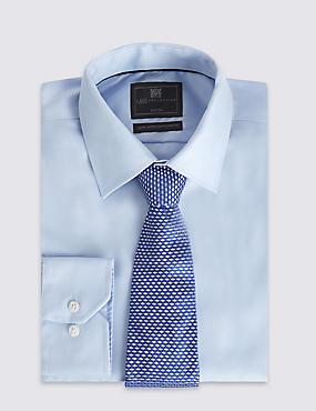 Pure Silk Geometric Print Tie, BLUE MIX, catlanding