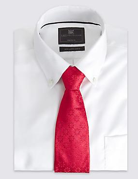 Pure Silk Floral Tie, RED, catlanding