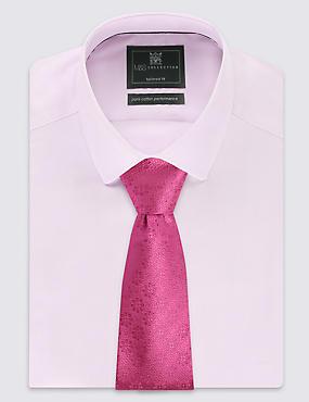 Pure Silk Floral Tie, FUCHSIA, catlanding