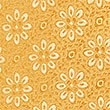 Pure Silk Floral Tie, GOLD, swatch