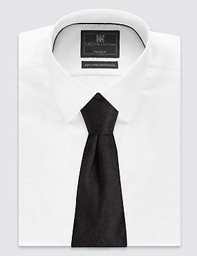 Pure Silk Floral Tie, BLACK, catlanding