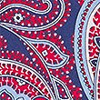 Pure Silk Paisley Print Tie , RED, swatch