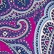 Pure Silk Paisley Print Tie , MAGENTA, swatch