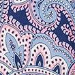 Pure Silk Paisley Print Tie , NAVY, swatch