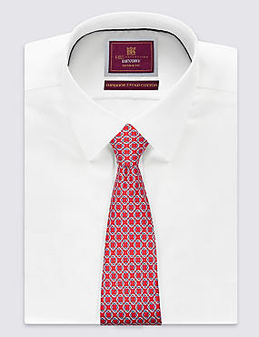 Pure Silk Printed Tie , RED, catlanding