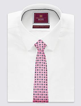 Cravate 100% soie avec imprimé , ROSE, catlanding