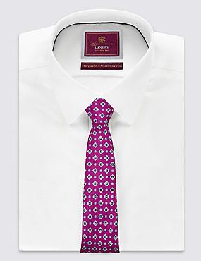 Cravate 100% soie avec imprimé , MAGENTA, catlanding