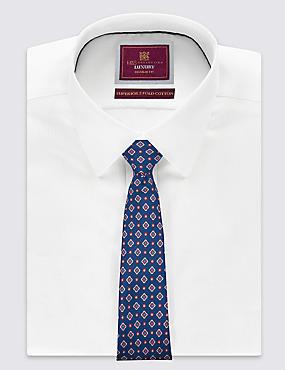 Cravate 100% soie avec imprimé , BLEU MARINE, catlanding
