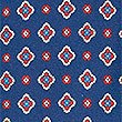 Pure Silk Printed Tie , NAVY, swatch