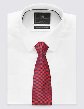 Pure Silk Geometric Print Tie, RED MIX, catlanding