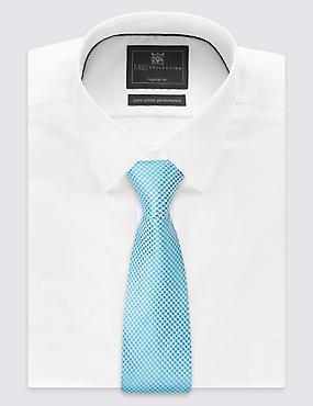 Pure Silk Geometric Print Tie, TURQUOISE MIX, catlanding