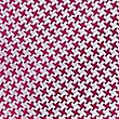 Pure Silk Geometric Print Tie, CRANBERRY, swatch