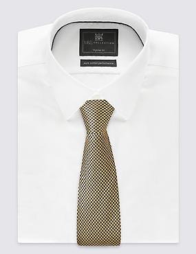 Pure Silk Geometric Print Tie, GOLD MIX, catlanding