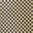Pure Silk Geometric Print Tie, GOLD MIX, swatch