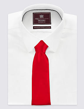 Pure Silk Satin Tie, RED, catlanding
