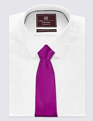 Pure Silk Satin Tie, MAGENTA, catlanding