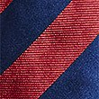 Pure Silk Bold Stripe Tie, RED MIX, swatch