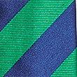 Pure Silk Bold Stripe Tie, GREEN MIX, swatch