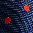 Pure Silk Spotted Tie, NAVY/RED, swatch