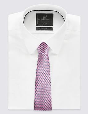 Cravate 100% soie à imprimé fleuri, ROSE ASSORTI, catlanding