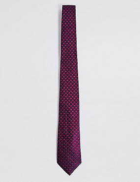 Pure Silk Tie, MAGENTA, catlanding