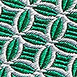 Pure Silk Geometric Print Tie, GREEN, swatch