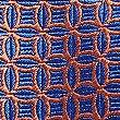 Pure Silk Geometric Print Tie, ORANGE, swatch