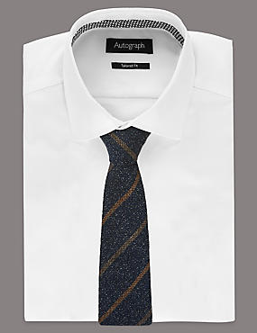 Pure Silk Striped Tie, CAMEL, catlanding