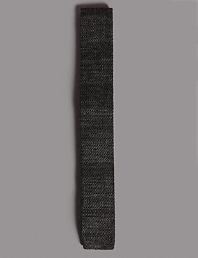 Knitted Tie, CHARCOAL MIX, catlanding