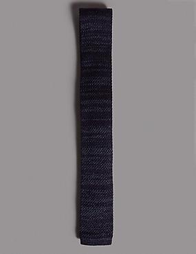 Knitted Tie, INDIGO MIX, catlanding