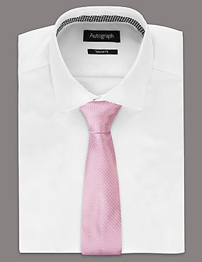 Pure Silk Micro Dotted Tie, LIGHT PINK, catlanding