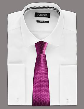 Pure Silk Micro Dotted Tie, FUCHSIA, catlanding