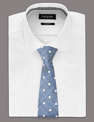Pure Silk Spotted Tie, , catlanding