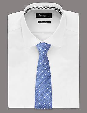 Silk Blend Spotted Tie , BLUE MIX, catlanding
