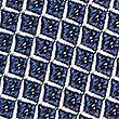 Pure Silk Geometric Print Tie, NAVY, swatch
