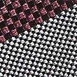 Pure Silk Striped Tie, BLACKCURRANT, swatch
