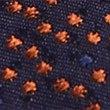 Pure Silk Textured Tie, BURNT ORANGE, swatch