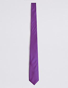 Pure Silk Tie, PURPLE, catlanding