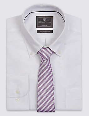 Striped Contemporary Textured Tie with Silk
