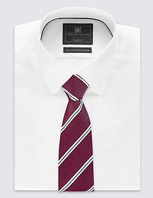 Modern Striped Tie, BURGUNDY, catlanding
