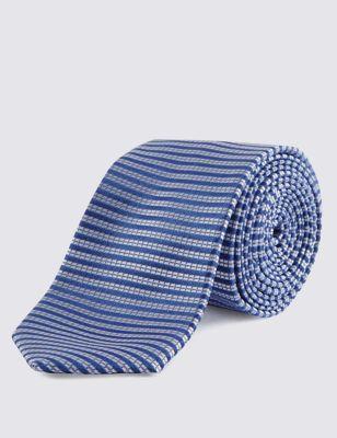 Узкий галстук в горизонтальную текстурную полоску Limited Edition T127177L