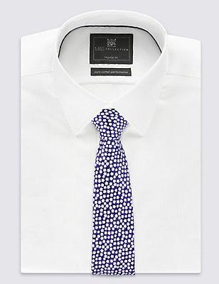 Pure Silk Floral Print Tie, BLUE MIX, catlanding