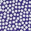 Krawatte aus reiner Seide mit Blumendesign, BLAU MELANGE, swatch