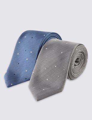 Узкий галстук в редкий горошек в ассортименте (2 шт) Limited Edition T127178L