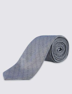 Текстурный галстук с добавлением шёлка